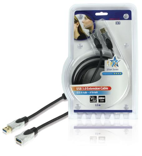 HQSS6131-2.5 Hoge kwaliteit USB 3.0 kabel 2,50 m