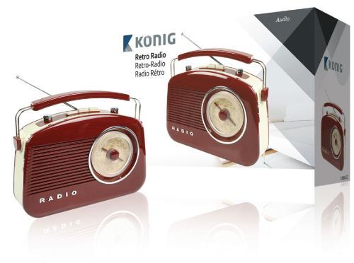 HAV-TR710BR Retrodesign AM/FM-radio - bruin