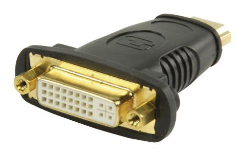VGVP34910B HDMI - DVI-adapter HDMI-connector - DVI vrouwelijk zwart