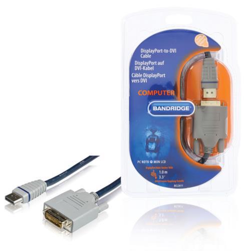 BCL2611 DisplayPort naar DVI-kabel DisplayPort plug - DVI-D 24 1-pins plug 1,0 m blauw