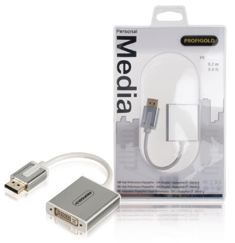 PROM403 High performance DisplayPort - DVI-adapter DisplayPort mannelijk - DVI-D vrouwelijk 0,20 m wit