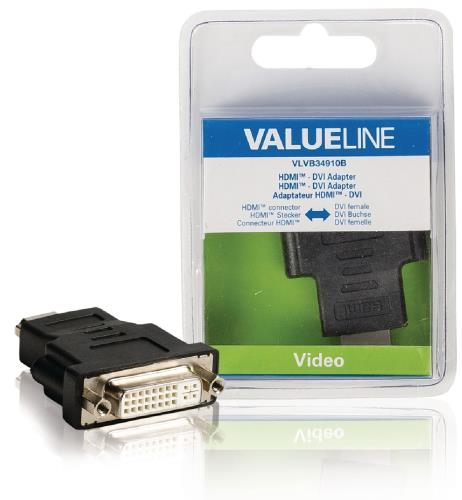 VLVB34910B HDMI - DVI-adapter HDMI connector - DVI vrouwelijk zwart