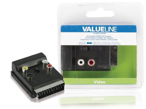 VLVB31903B Schakelbare SCART AV adapter SCART mannelijk - SCART vrouwelijk 3x RCA vrouwelijk S-Video vrouwelijk z...