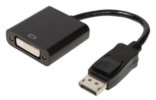 VLCP37250B02 DisplayPort - DVI adapterkabel DisplayPort male - DVI-D 241p female 0,20 m zwart