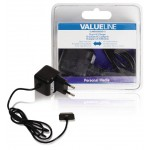 Valueline VLMB39892B10 30-pins AC-lader 30-pins dock male - AC-huisaansluiting 1,00 m zwart 2.1A