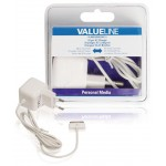 Valueline VLMB39892W10 30-pins AC-lader 30-pins dock male - AC-huisaansluiting 1,00 m wit 2.1A