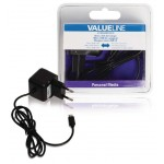 Valueline VLMB60891B10 Micro-USB-lader Micro USB male - AC-huisaansluiting 1,00 m zwart 2.1A