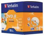 Verbatim DVDVER00044B DVD-R Wide Inkjet Printable ID Brand