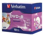 Verbatim DVDVER00045B DVD+R Wide Inkjet Printable ID Brand