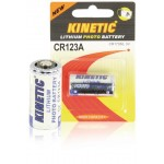 Kinetic CR123A-1B CR123 lithium foto batterij 3 V 1200 mAh 1-blister