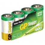 GP 03014AS4 Batterij alkaline C/LR14 1.5 V Super 4-foil