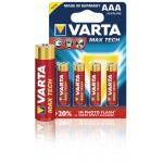 Varta 4703.101.404 Batterij alkaline AAA/LR03 1.5 V MaxiTech 4-blister
