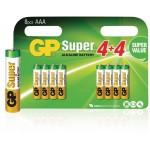GP 03024ADHC8 Batterij alkaline AAA/LR03 1.5 V Super 8-blister