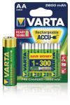 Varta 5716101404 Batterij NiMH AA/LR6 1.2 V 2600 mAh R2U Professional 4-blister
