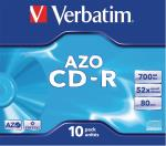 Verbatim 43327 CD-R AZO Crystal 700 MB Jewel Case 10 stuks
