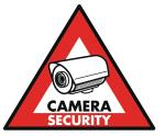 König SAS-ST-CS Sticker camerabeveiliging, 123 x 148 mm
