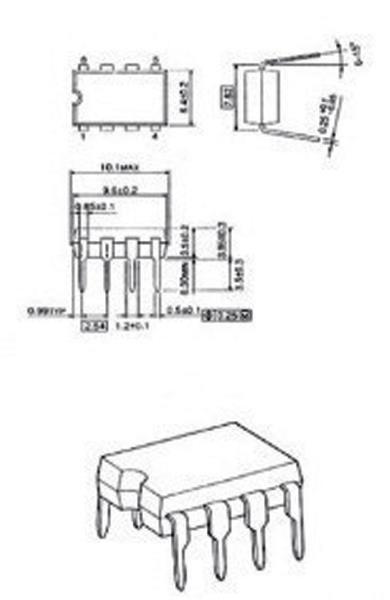 Fixapart 24C16N-MBR Eeprom 2kx8 bit i2cbus
