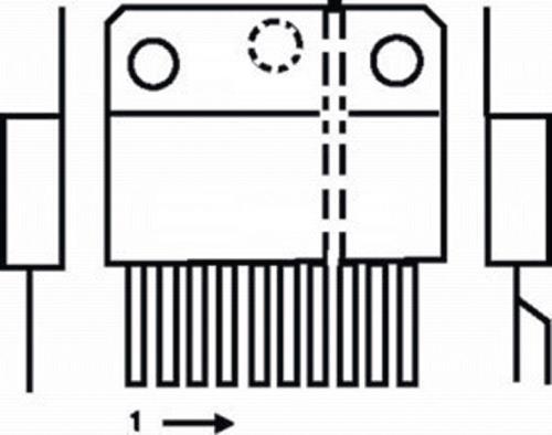 LM3886T-NSC 40 W audio power amplifier mute