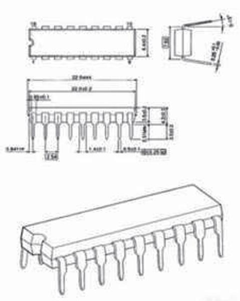 National Semiconductors LM3914N-NSC Bar graph disp. dr. 3 - 25 V