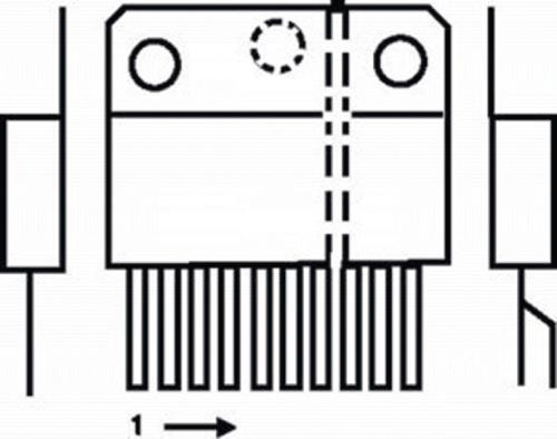 TDA2030AV-ST 18 W 22 V audio amplifier vert.