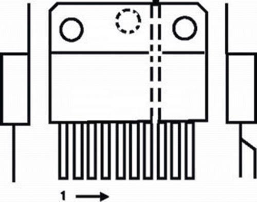 TDA7377-MBR Power amplifier 2x30 W 4R 18 V 0.3