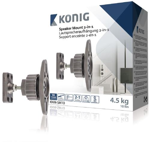 KNM-SM10 Luidsprekerbeugel 2-in-1 4,5 kg / 10 lbs 2 stuks