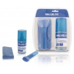 Valueline VLC-CK200 3 in 1 schermreinigings set 200 ml vloeistof + doek + borstel