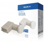Valueline VLS-LNB-T10 Universele twin LNB voor 2x TV 0.3 dB