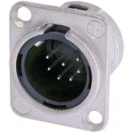 Neutrik NC7MD-L-1 XLR Panel-mount male receptacle <prefix></prefix>7<suffix></suffix> Panel-mount male receptacle DL ...