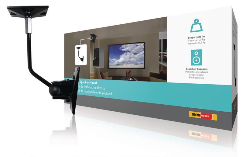 Omnimount 47-103-223 Speaker Mount Full Motion 11.3 kg Black