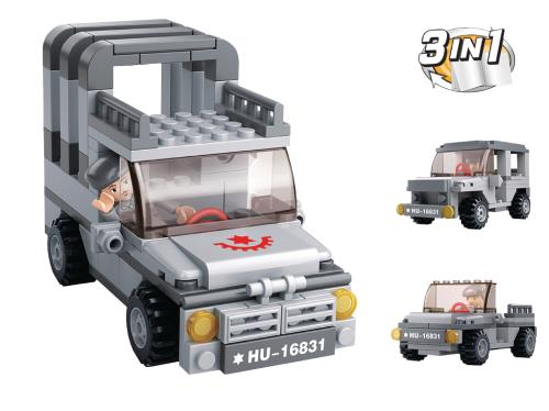 M38-B0537A Building Blocks Aircraft Carrier Series Jeep 3-in-1