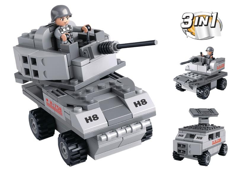 Sluban M38-B0537B Building Blocks Aircraft Carrier Series Armoured Vehicle 3-in-1