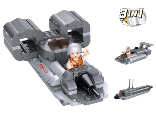 M38-B0537F Building Blocks Aircraft Carrier Series Jet Boat 3-in-1