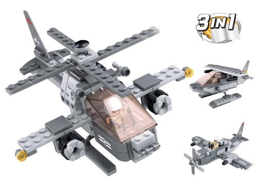 M38-B0537G Building Blocks Aircraft Carrier Series Attack Helicopter 3-in-1