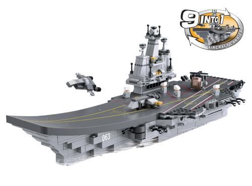 M38-B0537 Building Blocks Aircraft Carrier Series 9-in-1 Aircraft Carrier
