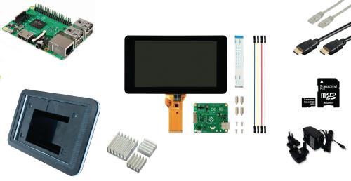 RP3KIT2 Raspberry Pi 3 LCD starter kit WiFi Raspbian software