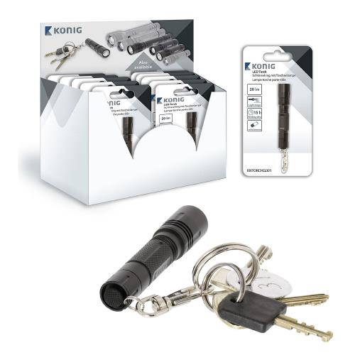 KNTORCHG001 LED Zaklamp 20 lm Zwart
