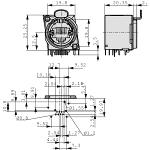 Neutrik NE8FBH-S Panel mount jack RJ 45 8 Nickel