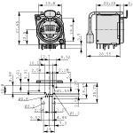 Neutrik NE8FBH-LED Panel mount jack RJ 45 8 Nickel