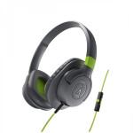 Audio Technica ATH-AX1IS portable hoofdtelefoon groen/grijs