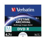 Verbatim 43821 M-Disc DVD R 5 stuks, in standaard doosjes