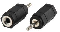 AC-018 Adapter plug 2.5mm stereo stekker - 3.5mm stereo kontra stekker