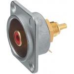 Neutrik NF2D-2 D-shape RCA socket rood