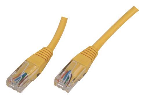 UTP-0008-5YE Niet afgeschermde RJ45 CAT 5e netwerkkabel 5,00 m geel 60X
