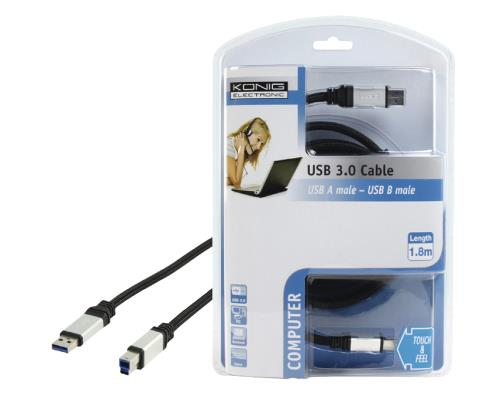 CMP-CE017-1.8 Knig USB 3.0-kabel USB3.0 A - USB 3.0 B