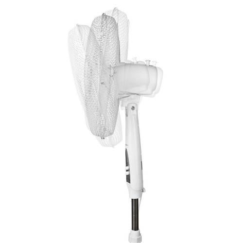 Nedis FNST12FWT40 Staande Ventilator met Afstandsbediening | Verstelbare Hoogte | Diameter 40 cm | 3-Snelheden | Wit