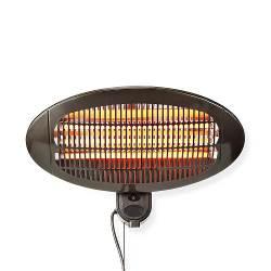 Nedis HTPA110EBK Terrasverwarmer | Muurbevestiging | 650 / 1300 / 2000 W | IP24