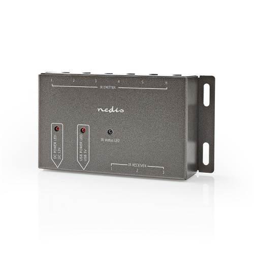 Nedis IREX150AT IR-Extender voor Afstandsbedieningen   30 - 60 KHz   Voor 6 Apparaten   10,0 m Bereik   Antraciet