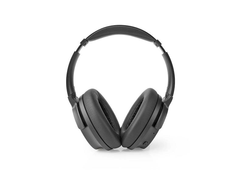 Nedis HPBT3261BK Over-Ear Bluetooth Headphones | 24 Hours Playtime | 25 dB Noise Cancelling | Fast Charging | Black