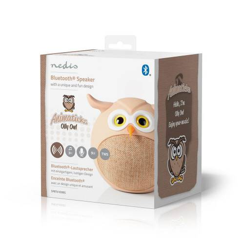 Nedis SPBT4100BG Animaticks Bluetooth Speaker | 3 Uur Speeltijd | Handsfree bellen | Olly Owl